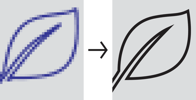 convert logo to dwg or dxf